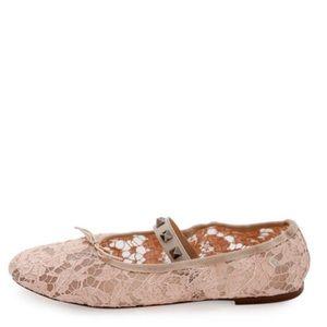Valentino Lace Ballet Flats